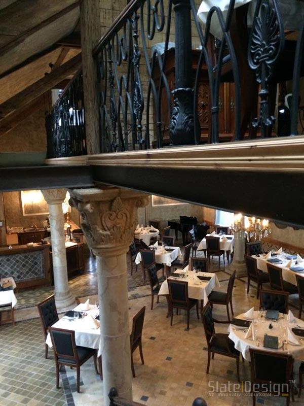 Reštaurácia a Bar 48 - Obklad z kamennej dyhy
