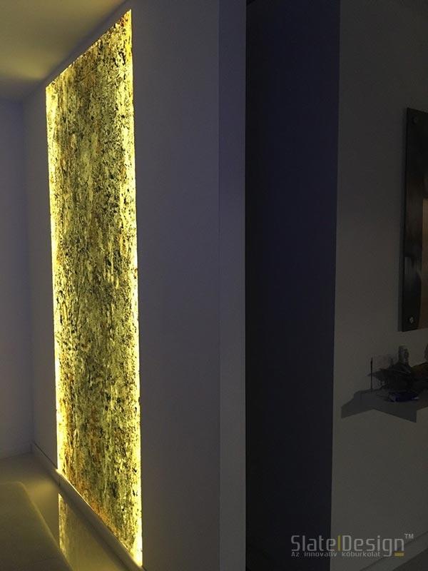 Óriás átvilágítható kő falbetét
